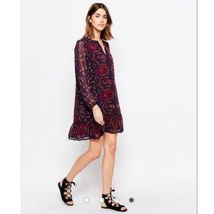 Scotch & Soda Purple Printed Wanderlust Dress Sz S
